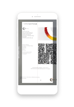 Lumina Learning Interactive App scan to import
